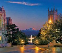 UW Campus at dusk