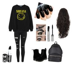 """Emo going out look"" by caitlinashworth60 ❤ liked on Polyvore featuring interior, interiors, interior design, maison, home decor, interior decorating, Topshop, Chicnova Fashion, Dr. Martens et Yves Saint Laurent"