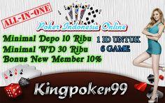 Agen Poker Online - Kingpoker99 Agen Poker Online terpercaya yang menyediakan Poker Deposit 10Rb yang sudah bisa mendapatkan bonus new member sebesar 10%