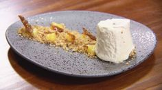 Masterchef Australia - Date Frozen Nougat with Lemon Curd, Cumin Crumb and Cumin Praline