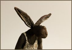 Galerie Joelle Gervais - Mon lapin chéri Gervais, Joelle, Animal Sculptures, Pottery, Rabbits, Animals, Inspiration, Images, Art
