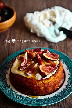 Fig & Yogurt Almond Cake Gluten Free @ Not Quite Nigella