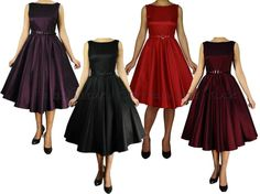 Rockabilly 50s Vintage Cocktail Evening Swing Dance Formal Dress size 8 - 18 New