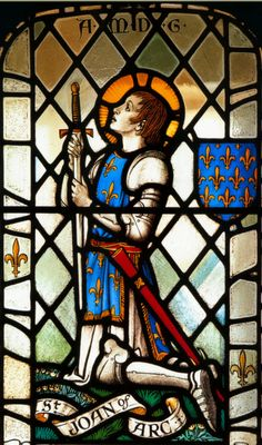 Saint Joan of Arc window - Would love if I could find where this is from, its actually quite accurate.