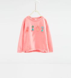 "ZARA - KIDS - ""Boom"" appliqués sweatshirt"