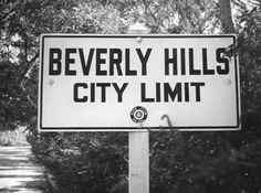 Vintage Beverly Hills City Limits sign, brought to you by the Automobile Club of Southern California.