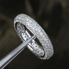 This is perfect. I love the rounded pave ring. Size 4.25, @Clint Wells  *wink wink*