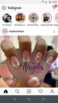Short Nail Designs, Stylish Nails, Short Nails, Bling Nails, Work Nails, Mariana, Vestidos, Toenails Painted, Polish Nails