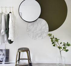 Cirkels aan de wand #karwei Home Bedroom, Bedroom Wall, Bedroom Decor, Wall Decor, Decor Room, Diy Wall, Inspiration Wand, Interior Inspiration, Interior Walls