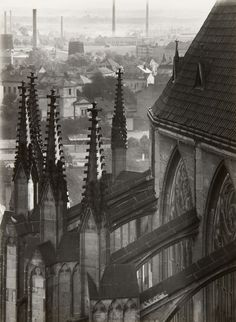 faniacgallery: Untitled (Cathedral, Rooftops) Photography by Jaromír Funke Old Photography, Landscape Photography, Contemporary Photography, Close Image, Vintage Images, Prague, Photo Art, Monochrome, Cathedral