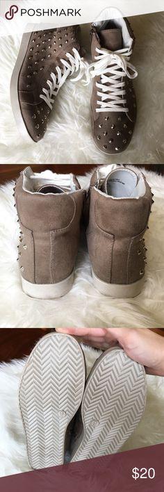 Spotted while shopping on Poshmark: Taupe Studded shoes! #poshmark #fashion #shopping #style #Xhilaration #Shoes