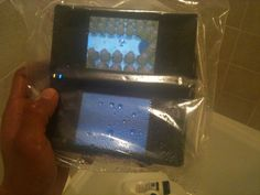 Just playing Pokemon in the shower...