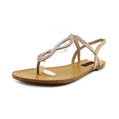 1dc3bce3c Material Girl Selena Rhinestone Flat Thong Sandals Blush     Be sure to  check out this awesome product. (This is an affiliate link)