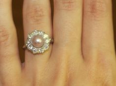 Edwardian Pearl and Diamond Ring..if we found the right pearl ring...I could do it as my engagement...but i'm kinda picky