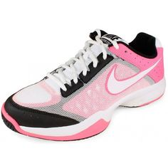 Nike Cage Court Pink + Black Women's Tennis Shoes