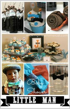 Part TWO of Little Man Baby Shower- Making Life Whimsical (Cupcake topper tutorial, root beer float favor) #littleman www.makinglifewhimsical.com