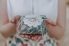 William Morris Ring Pillow Liberty Of London Fabric, Liberty Fabric, Liberty Print, Wedding Ring Cushion, Cushion Ring, Wedding Rings Vintage, Vintage Rings, Gold Wedding, Rustic Wedding