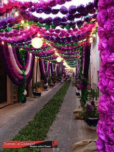 Tomar, a Cidade: Ruas Populares Ornamentadas - Festa dos Tabuleiros 2011