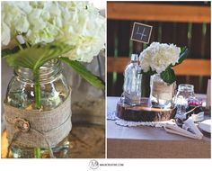 A COUNTRY, SHABBY, CHIC WEDDING AT THE BOTZUM BROS. FARMSTEAD. Wedding Bouquet, Wedding Boutineer, Vintage Flowers, Vintage, Classic, Lace, Bowtie, Wedding, Vintage, Barn, Farm, Country, Burlap Wedding, Mason Jars, Tree Stump Centerpieces