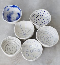 Hey, I found this really awesome Etsy listing at https://www.etsy.com/listing/186662160/porcelain-pinch-bowls-set-of-6-made-to