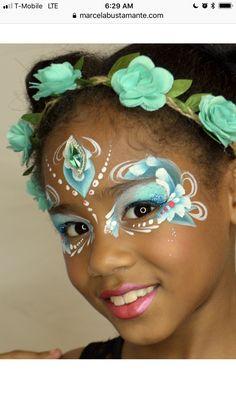Girl face painting idea.