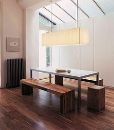 Wie sieht das moderne Esszimmer aus? - esszimmer holzboden holzbank modern minimalistisch
