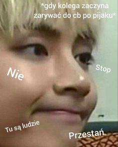 Reaction Pictures, Bts Pictures, Funny Photos, Asian Meme, Polish Memes, Very Funny Memes, I Love Bts, Taeyong, Bts Memes