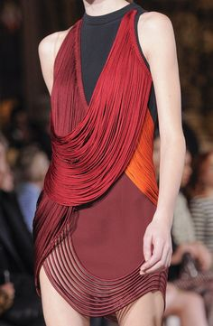 Stella McCartney Fall 2014 Runway Details. those muted coloure combination, lovely. i adore this piece of work