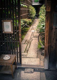 "nostalgia-gallery: "" Entrance of Coffee shop in Kyoto """