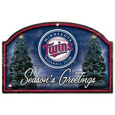 "Minnesota Twins WinCraft 11"" x 17"" Season's Greetings Holiday Woodl Sign - $22.99"