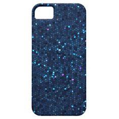 Dark Blue Crystal Mosaic iPhone 5 Case