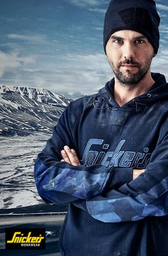 This warm and comfortable #hoodie matches perfect with your #camo #FlexiWork trousers. It comes in dark blue and dark grey and will keep you warm for the winter to come.