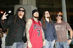 "Korn (often stylized as KoЯn) is an American nu metal band from Bakersfield, California, formed in 1993. The current band line up includes four members: Jonathan Davis, James ""Munky"" Shaffer, Reginald ""Fieldy"" Arvizu, and Ray Luzier"