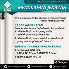 Follow @NasihatSahabatCom http://nasihatsahabat.com #nasihatsahabat #mutiarasunnah #motivasiIslami #petuahulama #hadist #hadits #nasihatulama #fatwaulama #akhlak #akhlaq #sunnah  #aqidah #akidah #salafiyah #Muslimah #adabIslami #DakwahSalaf # #ManhajSalaf #Alhaq #Kajiansalaf  #dakwahsunnah #Islam #ahlussunnah  #sunnah #tauhid #dakwahtauhid #Alquran #kajiansunnah #salafy #janaiz #hukummengkafanijenazah #jenazah #orangmati #fardhukifayyah #tatacara #adab