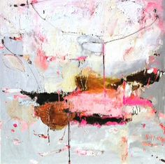 """Artist: Alison Cooley Mixed media on canvas. Title: """"Artificial Fire"""". Size: 40"""" x 40"""" inches, available at Sao House gallery, Montreal, QC"""