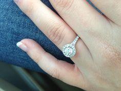 Bling bling #engagement rings #halo #heartsonfire
