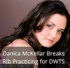 Latest News:  Danica McKellar Breaks Rib Practicing for DWTS.   We're officially past the midway point on ABC's Dancing with the Stars, and another celebrity has fallen victim to the curse that has haunted other contestants. Danica McKellar tweeted out yesterday that she'd broken a rib during ballroom practice with her partner Val Chmerkovskiy.  Get all the latest news on your favorite celebs at www.CelebrityDazzle.com!