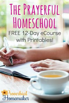 Pray over your homeschool! This 12-day ecourse provides tips, encouragement, and printables to help you pray for planning, troubleshooting, and the daily work!