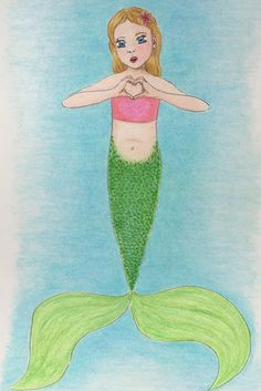 #sweetheart #mermaid #mermay #polycromos #art #drawing #illustration #meerjungfrau #kinderzimmer Tinkerbell, Disney Characters, Fictional Characters, Mermaid, Disney Princess, Drawings, Illustration, Art, Young Women