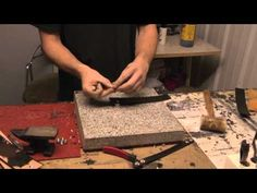 Leatherpunk.com - How To Set Snaps On A Leather Cuff - YouTube
