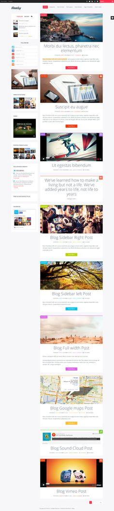 layout, blog nice use of left sidebar