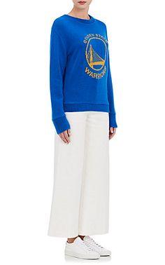 7cc1f1059 Barneys New York Site. The Elder Statesman X NBA Golden State Warriors Logo Cashmere  Sweater ...