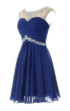 Cap-sleeved Chiffon Dress With Beading and Keyhole Back - Homecoming Dresses Semi Dresses, Plus Size Prom Dresses, Hoco Dresses, Junior Dresses, Dance Dresses, Pretty Dresses, Semi Formal Dresses For Teens, Bridesmaid Dresses, Prom Gowns