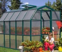 """Majestic Greenhouse by Rion Greenhouses. $1719.00. To round out our full lineup of hobby greenhouses, we now offer the all new Majestic greenhouse. It has been designed for gardeners who want to have the impressive height of our Grand Gardener greenhouses, but in a slimmer width. The Majestic comes in at 7' 6"""" tall, giving ample headroom for even the tallest gardener to work inside without stooping or bending. We've slimmed the width of the greenhouse down by 2 feet on the s..."""