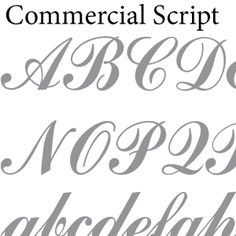 Glass etching stencil of Commercial Script Font for Stencils. In category: Fonts