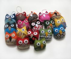 Handmade owl ornaments...
