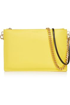 JIL SANDER Textured-leather clutch £230.62 http://www.theoutnet.com/products/633020
