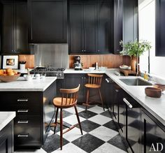 Unexpected Ways to Decorate with Wood in the Kitchen and Bath Photos | Architectural Digest