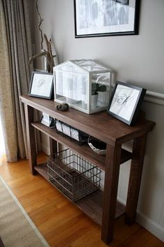 Build a dining room console table