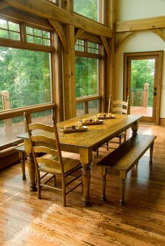 Love this all stained Pine farm table...